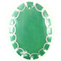 Dyed Green Oval Green shell Pendant wholesale
