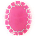 Greenshell dyed pink oval