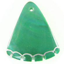 Greenshell dyed green wedge