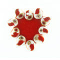 Shell laminate red heart wholesale pendant