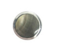 Blacklip Round inlaid inside metal frame 19mm