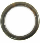 "Black horn ""O"" ring 44mm dia x 4mm thick wholesale rings"
