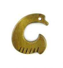 Burnt horn fishhook small wholesale pendants