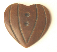 Burnt horn carved heart wholesale pendants