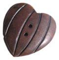 Burnt horn carved heart wholesale pendants