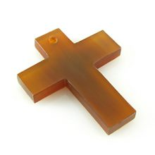 Golden horn cross center hole wholesale pendants