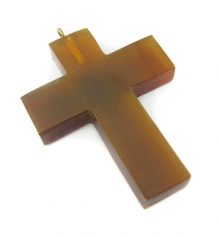 Golden horn cross w/ ring pendant