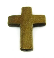 Burnt horn cross wholesale pendants
