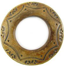 Burnt 60mm ring / 33mm hole horn pendant