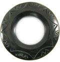 Black 60mm ring w/33mm hole horn pendant