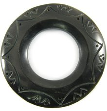 Black 60mm ring w/33mm hole horn pendant