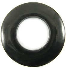 Black donut horn pendant 60mm