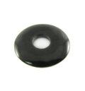 Black donut horn pendant 30mm
