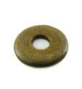 Burnt donut horn pendant 20mm