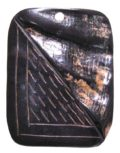 Black horn rectangular pendant 36x47