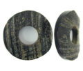 Black horn 40mm donut rough wholesale pendants