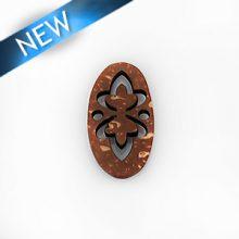 Laser cut; brown coco; pendant wholesale pendant