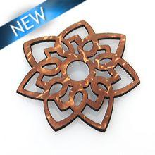 Laser cut brown coco disc irregular shape wholesale