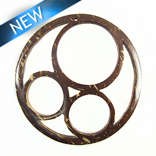 brown coco 3-ring pendant wholesale