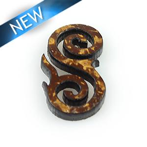 Laser cut brown coco irregular shape wholesale pendants