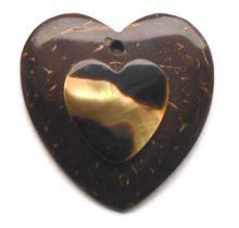 Coco heart brownlip wholesale pendants