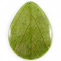 Coco back teardrop w/Cab-Caban leaf 43mm wholesale pendants