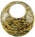 Coconut shell backing pendant with striped design cut out 72mm