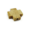 Tea-dyed bone cross 20mm wholesale beads