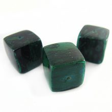 Turquoise green cube wholesale banana bark beads