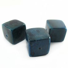 Blue cube wholesale banana bark beads