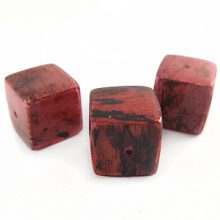 Coral cube wholesale banana bark beads