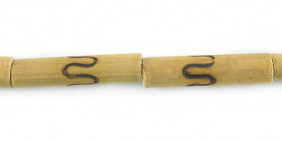 Wholesale natural tube bamboo wood beads with spiral design