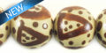painted wood african round 15mm