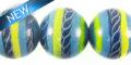 Painted whitewood 15mm blue swirl design