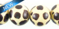 Whitewood round hand-painted animal print