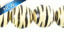 white-wood round zebra print 15mm