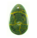 Hanbabalud wood inlay teardrop green