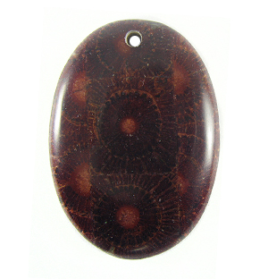 Albutra wood inlay 50mm dark brown oval