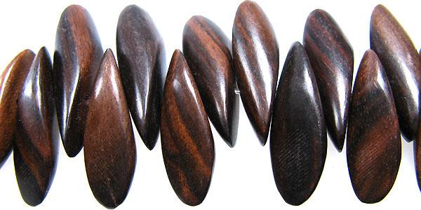 Black ebony wood petals