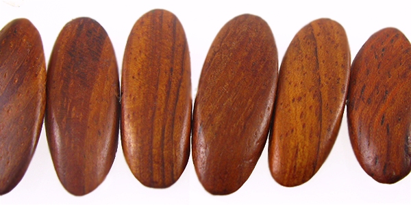 Bayong wood tapered oval side drilled