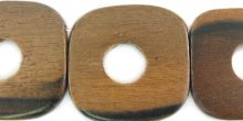 Tiger ebony wood 12mm mid hole