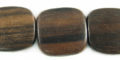 Tiger ebony flat square wholesale beads
