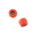 Wood tube 17 w/ 8mm CH coral pink