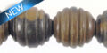black ebony wood carved spiral 15mm