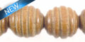 bayong carved spiral round wholesale beads