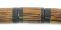 Black Horn Inlaid Cylindrical Palm-wood Beads