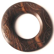 Tiger ebony wood 60mm carved donut