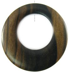 Tiger ebony wood off center donut 45mm