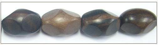 Tiger ebony wood 4-sided oval