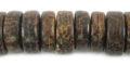 Old palmwood cross cut pukalet bead